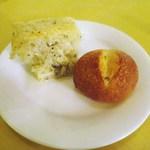 ル・ボン・ヴィボン - 自家製パン、バジリコのパン、プチパン