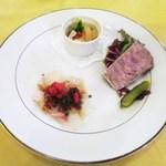 ル・ボン・ヴィボン - 冷製オードブルの盛り合わせ  野菜のエチュベ  真鯛のカルパッチョ  鴨のテリーヌ