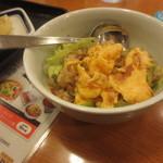 リンガーハット - 料理写真:ふわふわたまごのレタスチャーハンミニ¥250(税別)