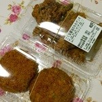 炎 - 料理写真:醤油ザンギに和牛メンチカツです。