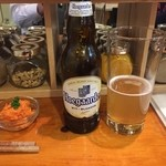 エイケイコーナー - コリアンダー入りのヒューガールデンビール、コリアンダーってパクチーだぞ(^^♪