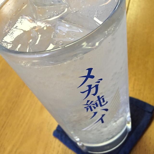 六兵衛 - メガ純ハイ(特大ジョッキ)(460円+税)2015年4月