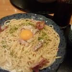 五右衛門 - カマンベールチーズとカリカリベーコンのカルボナーラ(大)