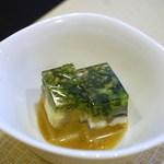 36839048 - 先付=鰻の煮こごり、柚子味噌仕立
