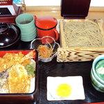 3684006 - 天丼 ざるそばセット(だったん蕎麦)1250円