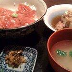 おかってや - づけ丼と肉豆腐です。