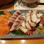 海力 - 料理写真:刺身三点盛り合わせ
