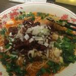 東京老拉麺 - 担々麺、汁美味しい、麺はほそい
