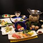 ふじ丸 - 本鮪を中心に生ワカメのしゃぶしゃぶ、銘酒丹沢山の酒粕を使った鰆粕漬け焼きなど美味しいもの満載の宴会料理です!