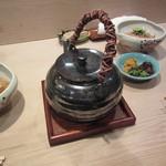 銀座 あさみ - 熱々のお茶