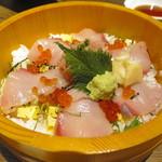 サントリー ザ・プレミアムモルツ オーシャン グリル - ブリのちらし寿司