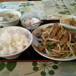 中国酒菜 好来 - レバーの辛味噌炒め定食