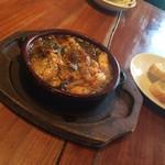 ラペントラ - 小海老ときのこのガーリックオイル煮