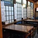 そば処さこん - テーブル2卓8席(H27.4.11撮影)