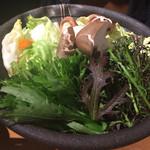 36853321 - イベリコ豚のしゃぶしゃぶ野菜