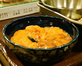 うを徳 - 2015.4 明石の鯛の肝、胃袋、卵