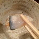 元祖鮭鱒料理 割烹 金大亭 - 【2015年01月】氷頭の膾、コリコリです。