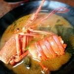 美さき - 料理写真:昨夜のお造りの伊勢海老のお味噌汁