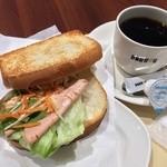 ドトールコーヒーショップ - Bセット:ポテサラとリオナソーセージ 390円