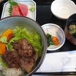 よしむら - 本マグロと佐賀牛ステーキランチ1450円