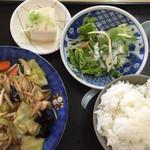 ニューラーメンショップ - Cセットの野菜炒め