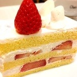 シャ・ノワール - イチゴのショートケーキ。