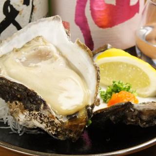 新鮮な生牡蠣を毎日入荷!1個単位でご注文頂けます♪