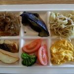 ココス - 再訪問 2月28日 前回との違いは… 茄子の揚げ浸し、 ポテトフライ、春雨のしぐれ煮(挽き肉和風味)