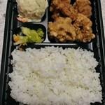 二番目に美味しい唐揚げ専門店 居酒屋 鳥政 - シンプルな白米の弁当!