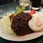 マカロニ - ハンバーグステーキ