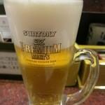 根室花まる - 生ビールはプレモル。