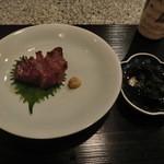 菅井 - 2015/4 サーロインステーキの炭火焼き