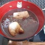 CAFE KIKI - お汁粉ほうじ茶付き