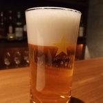 バー グレイハウンド - サッポロ生ビール(630円)
