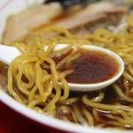 みずき - 醤油スープ&麺(脂少なめ)