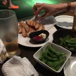 SPORTS BAR Baccarat - 枝豆とポテト