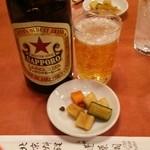 蓬莱閣 - やっぱりお供にビールでしょ!
