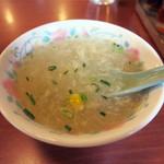 精陽軒 - 玉子とコーンのスープも美味