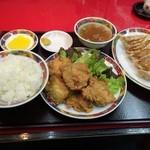 36887930 - 豚肉の唐揚げ定食&焼餃子
