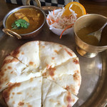 アジアンエスニック料理 マヤ - Aセットをチーズナンに変更 +250円