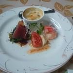 青野 - 料理写真:ランチFコース 前菜  ホタルいかのグラタン