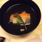 竹彩 - 白魚真丈のお吸い物