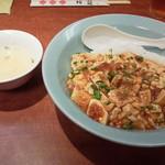 接筵 - 麻婆丼756円(税込)、玉子スープ付