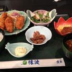 味波 - Aランチ カキフライ定食 700円