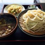今福屋 - 肉汁うどん+かきあげ 660円+110円