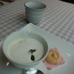 醗酵カフェあおげん酵房 - ババロアと黒豆茶