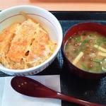 なか卯 - カツ丼ミニ+季節のみそ汁