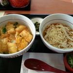 なか卯 - 衣笠丼ミニ+小うどん冷やし