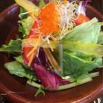 36908021 - 野菜サラダはトビコのトッピング(^^)