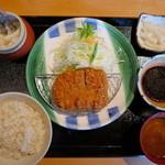 かつ雅 - ヒレかつ定食(中)